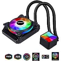 upHere RGB LED Sistema de refrigeración líquida para PC con 120 Ventilador PWM/CC120RGB