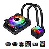 upHere RGB LED Liquid CPU Cooler Sistema di Raffreddamento a Liquido Radiatore...