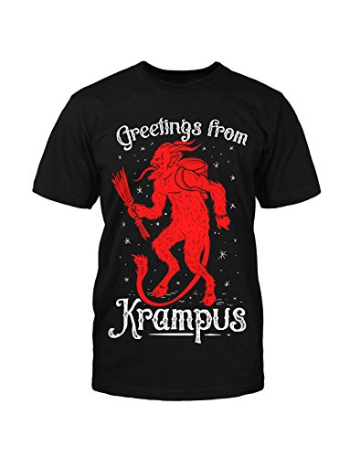 Greetings from Krampus T- Shirt Weihnachten Geschenk Horror neu X-Mas Christmas Schwarz