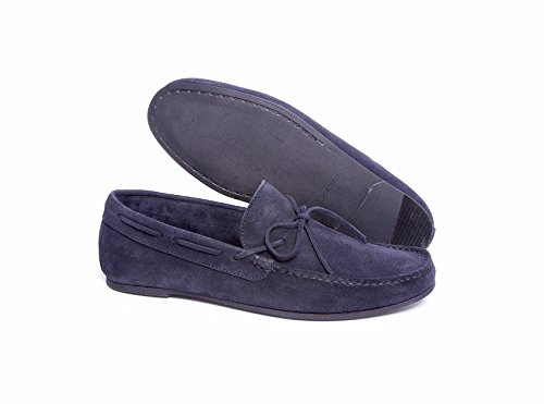 Delicious Junction Casino Navy Suede Slip On, Blu (Blu), 42