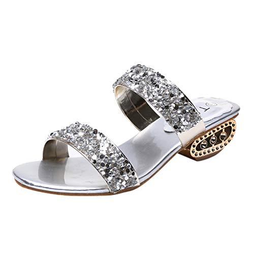 ODRD Sandalen Shoes Damen Damen Pailletten Bling Niedrige Sandaletten Römische Schuhe Hausschuhe 1-3cm Schuhe Strandschuhe Freizeitschuhe Turnschuhe Hausschuhe Pumps Slipper