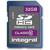 Integral Europe INSDH32G10V1 Carte Mémoire SDHC 32 Go Classe 10