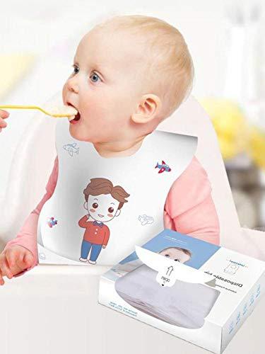 Baberos bebé desechables 20PCS Protector ropa bebé