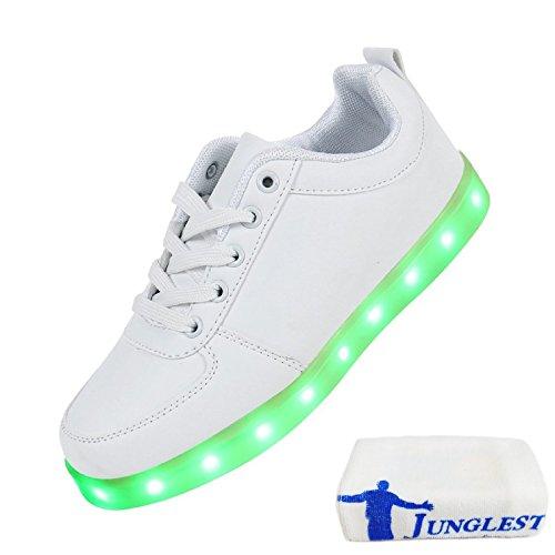 presentepequena-toallac36-eu-40-techo-de-intermitentes-de-light-7-zapatillas-blanco-deportes-color-u
