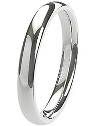 Nuevo sólido Argentium plata 2,5mm Heavy Court de confort Fit Unisex anillo de boda banda disponibles en todos los tamaños de H–Z + 3| fabricado en el Reino Unido. & Hallmarked