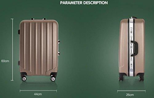 Xiuxiandianju Ruota universale leva ABS chiusura fibbia usura impermeabile per il tempo libero viaggio valigia da 20 pollici a 24 pollici diversi SuitcaseColour & dimensione Pink