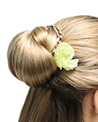 Delicate Braided Bun UpDo Formal Wedding Prom Womens Monofilament Hairpiece by EasiHair - Color 4