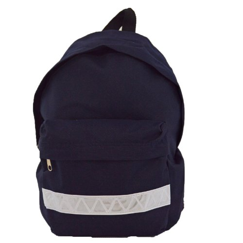 euro-childrens-rucksack-backpack-bag-in-9-colours-with-safety-strip-navy-blue