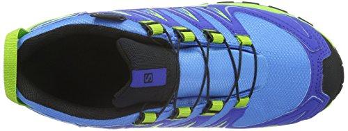 Salomon Xa Pro 3d Cswp, Chaussures de Running Entrainement Mixte Enfant Bleu (Freedom Blue/Cobalt/Granny Green)