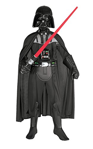 Star Wars Deluxe Darth Vader Kostüm für Kinder inkl. Maske, (Kinder Kostüme Wars Star)