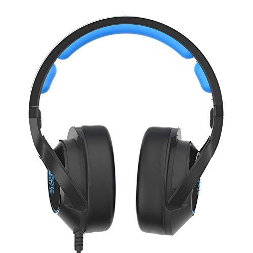 IN THE DISTANCE Gaming Headset Für Laptop / PS4 / Controller Casque PC Stereo Kopfhörer Kopfhörer Mit Mikrofon LED-Licht (Color : Blue No Retail Box) Headset Retail-box