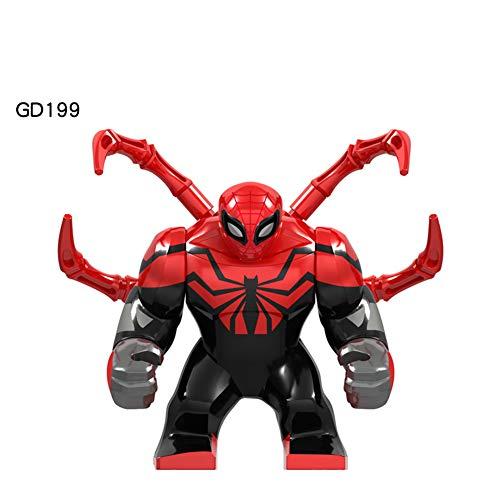 3,5 Zoll Höhe Mini Justice League Superhelden Kinder Puzzle Bausteine   Jungen und Mädchen Geburtstagsgeschenke Sammler,1