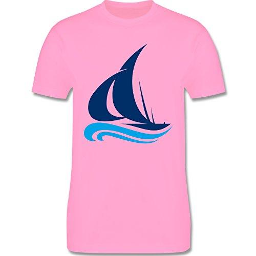 Schiffe - Segelboot - Herren Premium T-Shirt Rosa