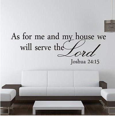 Lienhao neu für mich und mein Haus Joshua Referenz Wandtattoos Vinyl Aufkleber Bibel Schriften Großhandel kann angepasst werden