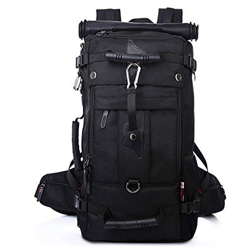 50 L Multi-Fun Male Backpack Impermeable Viaje De Gran Mochila Al Aire Libre Alpinismo Bolsa De Viaje De Gran Capacidad ( Color : Negro )