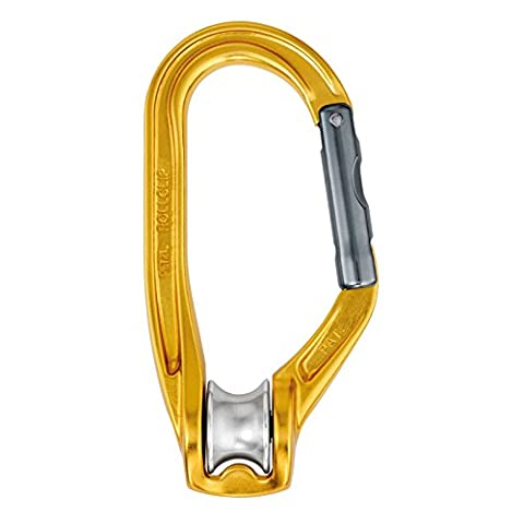 Petzl P74 Pulley Carabiner with Gate Opening On