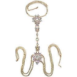 Hukangyu1231 Cadena de Pecho Cadena de la aleación del Cuerpo Bikini Jewelry Sexy Collar Accesorios de Playa Moda Mujer Cuerpo Sexy Cintura del Vientre Encanto