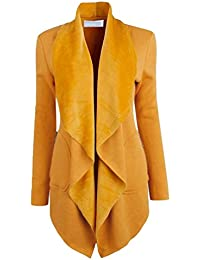 Manteau chaud jaune moutarde