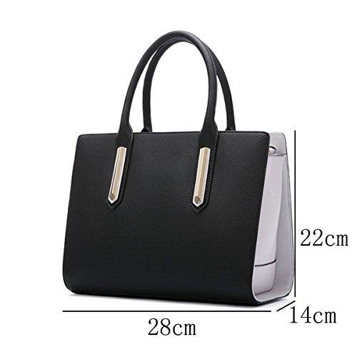 Handtasche Bag Einfache Mode Einkaufstasche Black Messenger Schulter Damen Hit Farbe FqwXxnSx8