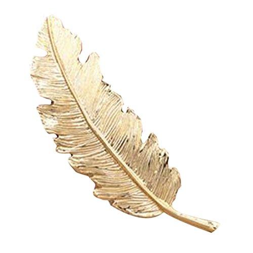 Horquilla para el pelo, para mujer, Compatible Conma de pluma, metal, color dorado