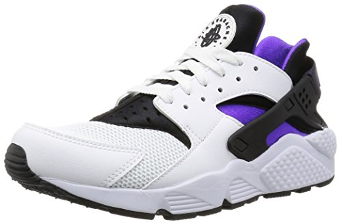 Nike Air Huarache Herren Sneakers, Blanco (white/hyper grape-black-purple dynasty), 42.5 EU