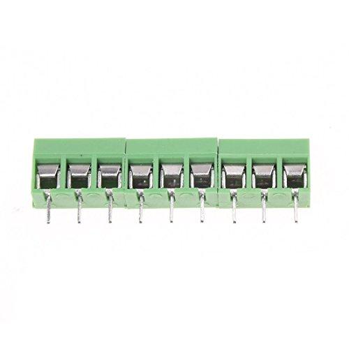 TOOGOO(R) 7Pcs 9 Pole 5mm Pitch PCB Mount Screw Terminal Block 8A 250V