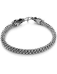 Sterling Silver Men Dragon Bangle Bracelet Made from 925 Sterling Silver
