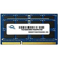 OWC 8 GB (2 X 4 GB) PC8500 DDR3 1066 MHz Kit de actualización de Memoria de 204 Pines, (OWC8566DDR3S8GP), para MacBook Pro, MacBook, Mac Mini e iMac
