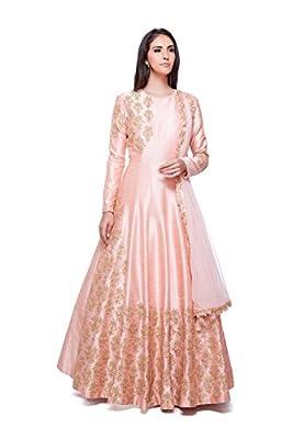 Generic Women's Raw Silk Anarkali Suit