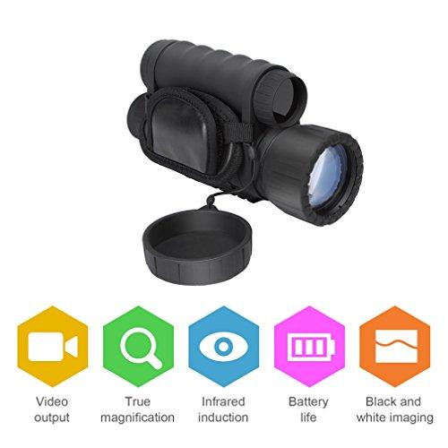 ACEHE Nachtsichtgerät 6x50 Monokular Nachtsicht Recorder HD 5 MP Digital Night Vision Viewer Monocular Fernglas mit 1.5 inch TFT LCD, Jagdkamera & Camcorder