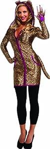 Disfraz de leopardo para mujer, con sudadera y capucha, Talla única adulto (Rubie