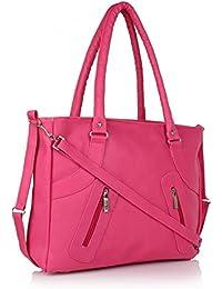 Attire Fancy Stylish Elegance Fashion Women's Handbag (Pink)