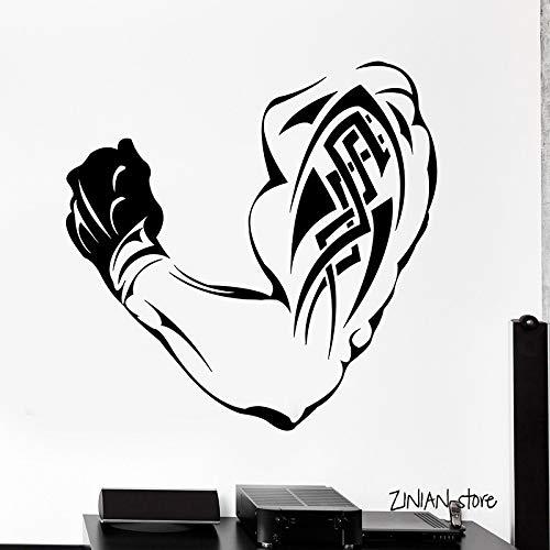 guijiumai Bodybuilding Wandtattoos Fitness Wandaufkleber Für Gym Muscle Tattoo Vinyl Kunstwand Removable Wallpaper Schlafzimmer Dekor rot 42x42 cm - Ostsee Kirsche