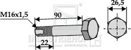 Schraube-M16-X15-X-90-SW27-mm-fr-Howard-Mulcher