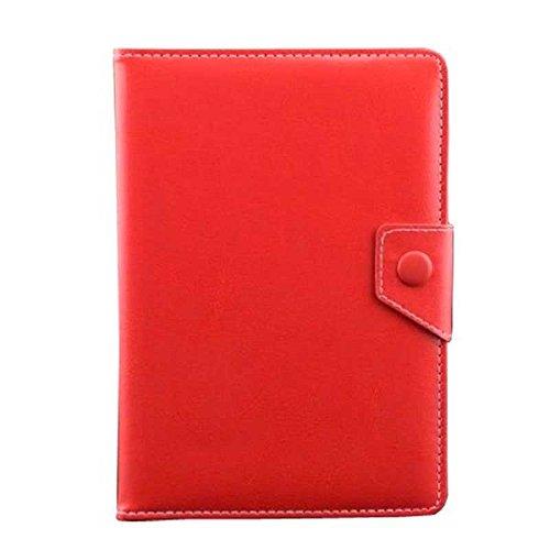 Funda Piel Tablet Universal 7'' Pulgadas Rojo Case Cover Tableta Android ebook