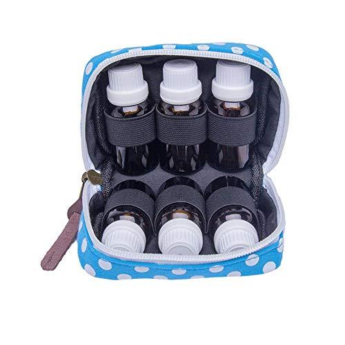 Ätherisches Öl Tasche Hartschale Aromatherapie Flaschen Tragetasche Reise Organizer Hartschaliger Reisekoffer für 6 Flaschen Ätherische Öle Behälter Halter for 10ML 15ML Bottles