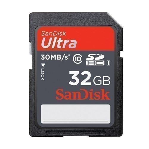 Sandisk 32GB Ultra SDHC Scheda Memoria Chip Per Canon EOS 1100D Macchina Fotografica