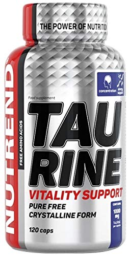 Nutrend Taurine 120 Caps optimize the overall condition of the body during fatigue and exhaustion on intensive training athletes 1000mg