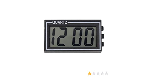 Colore: Come Mostra LImmagine Plastica Nera di Piccole Dimensioni Tavolo LCD Digitale da Tavolo per cruscotto Scrivania Data Ora Calendario Orologio Piccolo con Funzione Calendario TS-CD92