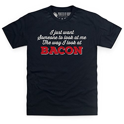 Bacon Desire T-Shirt, Herren Schwarz