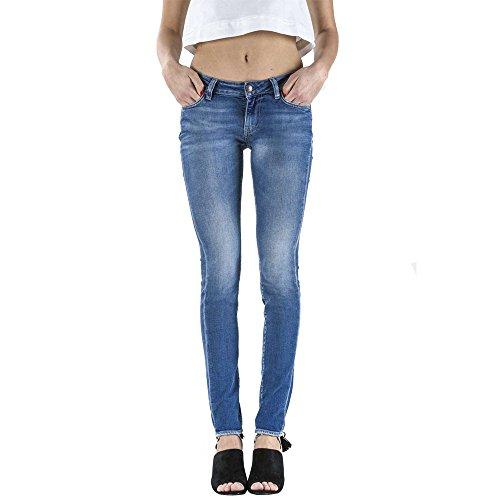 Meltin'Pot - Jeans MADOLINE D0132-UK418 für frau, skinny stil, eng passend, medien taille - DENIM BLUE - 25 - Länge: 34 (Größe DE 33 - INT. XS)