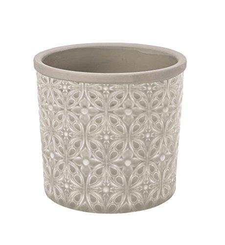Burgon & Ball Pot de fleurs d'intérieur en céramique Porto - Gris pâle - Taille L gris