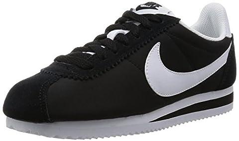 Nike Wmns Classic Cortez Nylon, Chaussures de Running Entrainement Femme, Blanco (Blanco (black/white)), 39 EU
