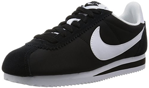 Nike Wmns Classic Cortez Nylon, Scarpe da Ginnastica Donna, Nero (Black/White), 38 EU