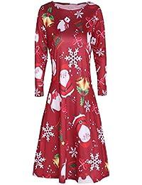 Vestido de Navidad ZARLLE Mujer Vestidos de Mini árboles de Navidad Navidad Papá Noel Muñeco de