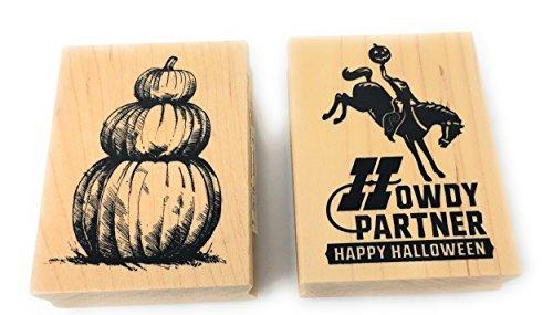 Inkadinkado Halloween Holz Block Stempel Bundle 2 Stamps