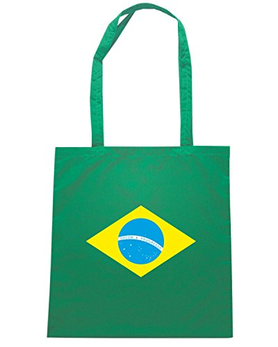 T-Shirtshock - Borsa Shopping TM0169 Brazil flag Verde