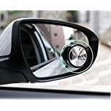 Carex WV001RCA0119 Universal Rear View Blind Spot Mirror (Set of 2)