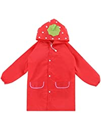 Niños Impermeable Rain Coat Rainsuit Animal Toddler Cartoon Hooded Jacket Poncho