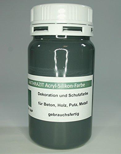 farbe fuer pflastersteine Anthrazit - Beton Farbe - Acryl Silikon 1 Liter
